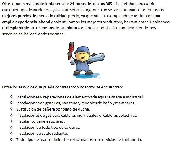 fontaneros La Rambla 24h con instalaciones de tuberias
